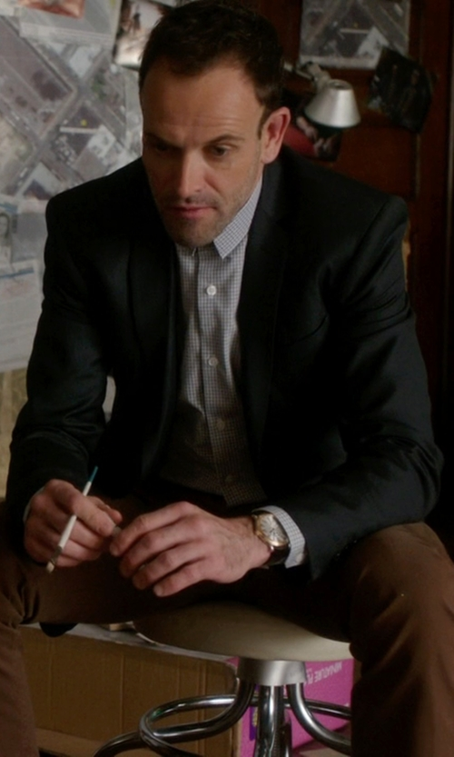 Jonny Lee Miller with Calvin Klein  Stretch Wool Two Button Blazer in Elementary