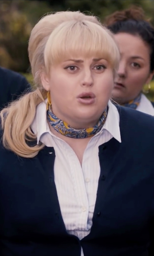 Rebel Wilson with Efreewd Hot Stamping Flower Silk Square Scarf Neckerchief in Pitch Perfect