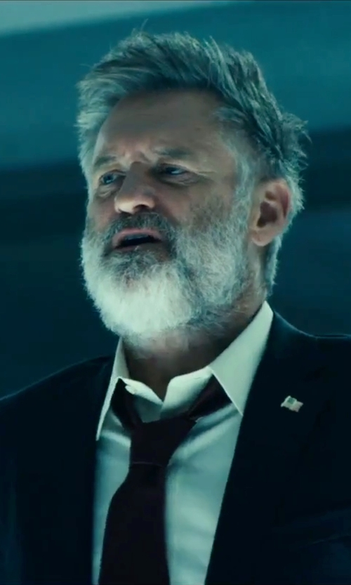 Bill Pullman with Calvin Klein Solid Silk-Blend Tie in Independence Day: Resurgence