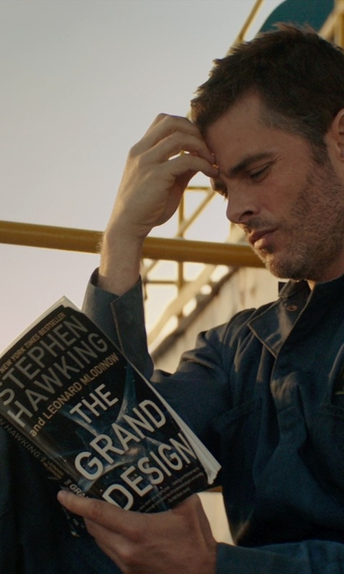 James Marsden with Stephen Hawking The Grand Design Book Paperback in The Best of Me