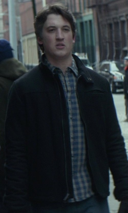 Miles Teller with Ralph Lauren Double-Faced Gingham Workshirt in That Awkward Moment