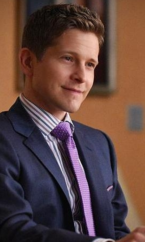 Matt Czuchry with Jan Leslie Signature Bee Necktie in The Good Wife