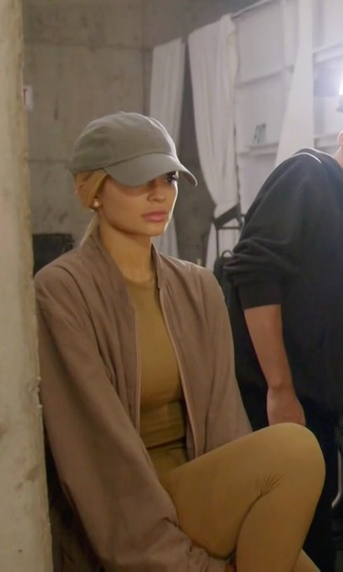 Kylie Jenner with Yeezy SS16 Zip Bomber Jacket in Keeping Up With The Kardashians