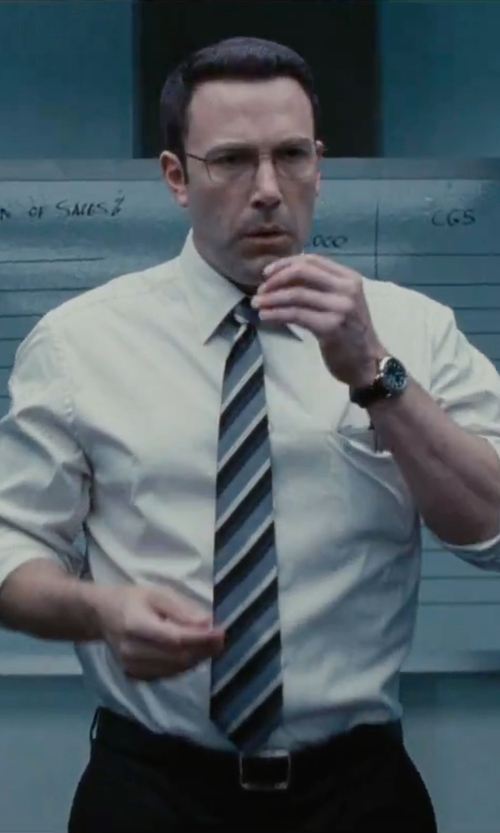 Ben Affleck with Torino Leather Co. Reversible Aniline Leather Belt in The Accountant