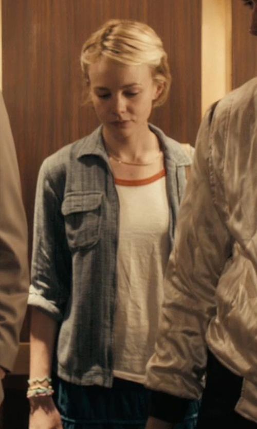 Carey Mulligan with Kasper Tweed Zip-Pocket Blazer in Drive