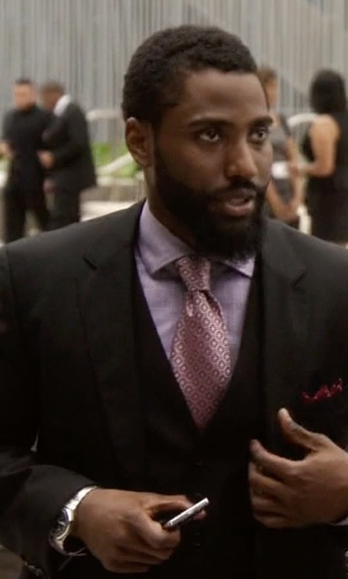 John David Washington with Tag Heuer Dial Stainless Steel Watch in Ballers