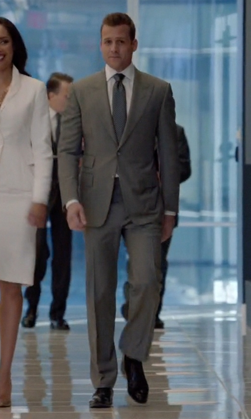 Gabriel Macht with Salvatore Ferragamo Tramezza Nesio Derby Oxford Shoes in Suits