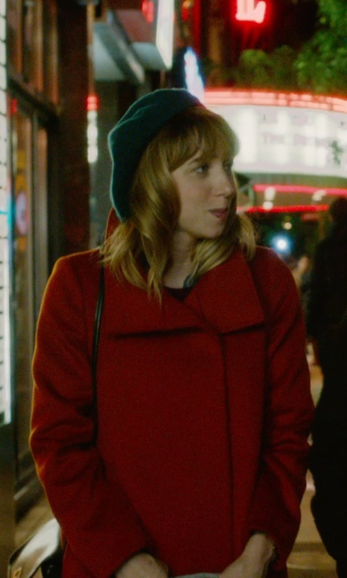 Zoe Kazan with Burton Faux Pas Beanie Hat in What If