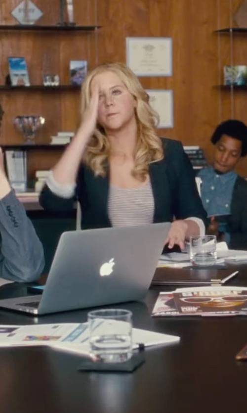 Amy Schumer with Theory Edition 2 Custom Gabe Blazer in Trainwreck