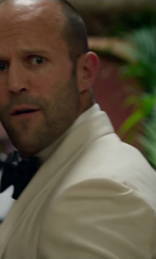 Jason Statham with Jake B Shawl Collar Blazer in Spy