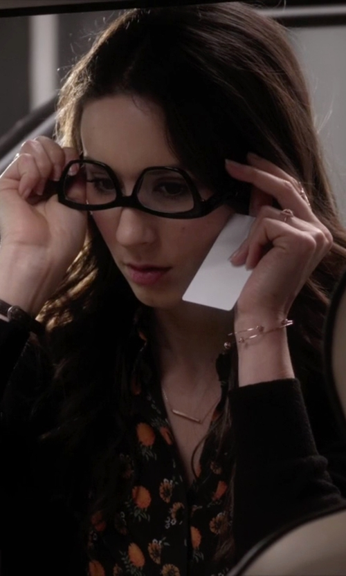 Troian Bellisario with Aonie Gold Plated Silver Ring in Pretty Little Liars