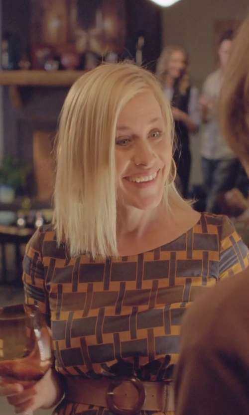 Patricia Arquette with The Ruddy Duck Mod Print Dress in Boyhood