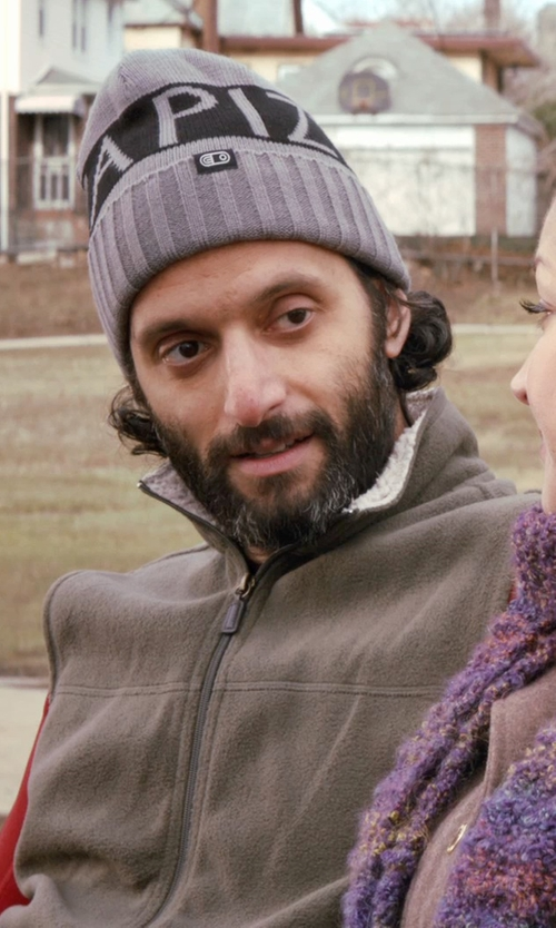 Jason Mantzoukas with Airblaster Pizza Beanie in Adult Beginners