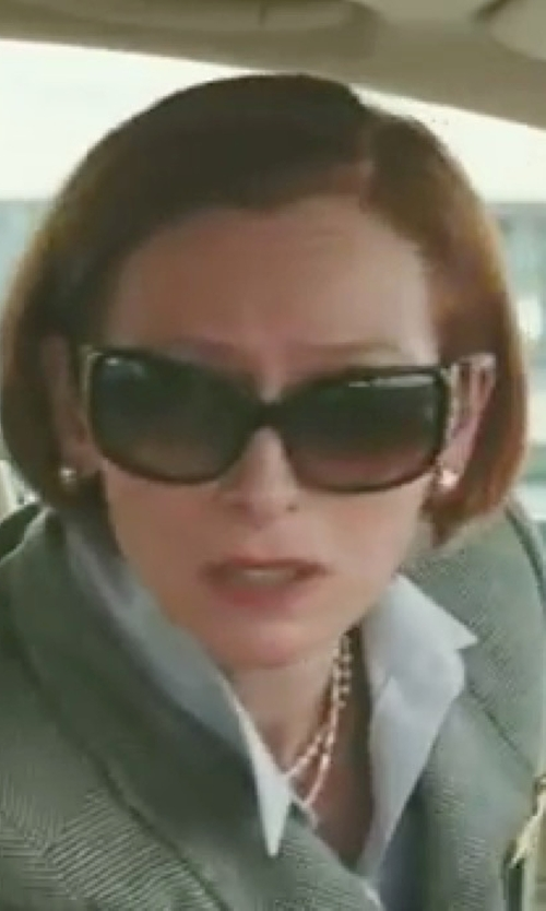 Tilda Swinton with Tory Burch Large Square Sunglasses in Burn After Reading