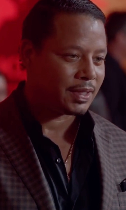 Terrence Howard  with Isaia Windowpane Check Italian Wool Suit in Empire