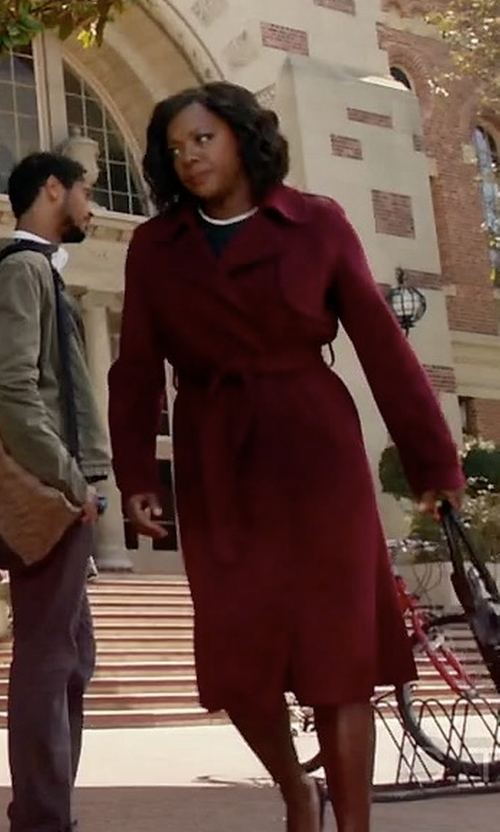 Viola Davis with Theory Oaklane Wrap Coat in How To Get Away With Murder