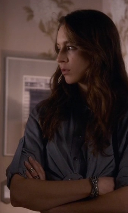 Troian Bellisario with Vicenza Bold Pave' Crystal Ring in Pretty Little Liars