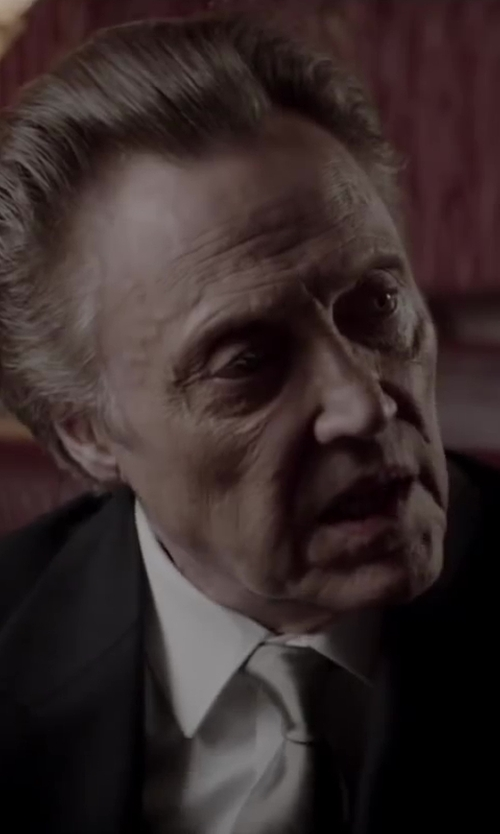 Christopher Walken with HUGO BOSS Woven Silk Tie in Jersey Boys