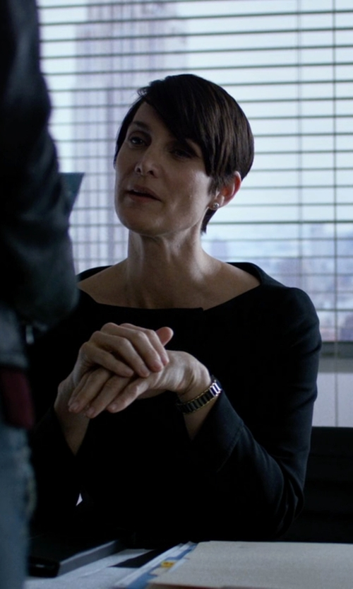 Carrie-Anne Moss with P.A.R.O.S.H. Long Sleeve Blouse in Jessica Jones
