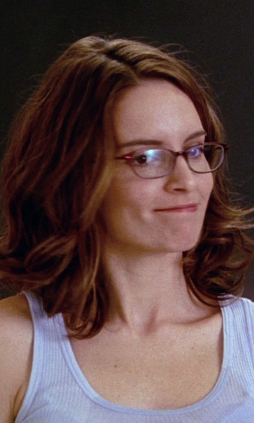 Tina Fey with Gianfranco Ferre Havana Unisex Eyeglasses in Mean Girls