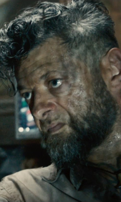 Andy Serkis with Iced Time-Gold White Gold Ball Earrings in Avengers: Age of Ultron