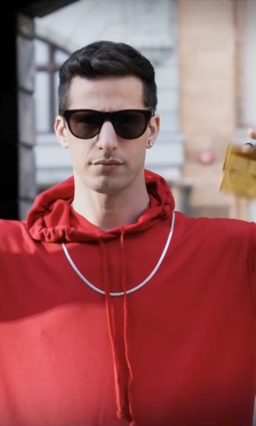 Andy Samberg with Urbancrews Short Sleeve Hoodie Shirt in Popstar: Never Stop Never Stopping