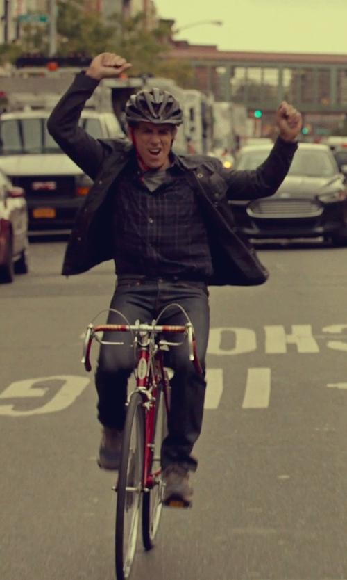 Ben Stiller with Michael Kors Indigo Linen Check Button Down Shirt in While We're Young