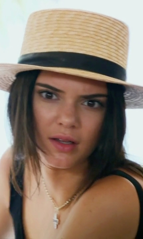Kendall Jenner with Janessa Leone Wright Hat in Keeping Up With The Kardashians