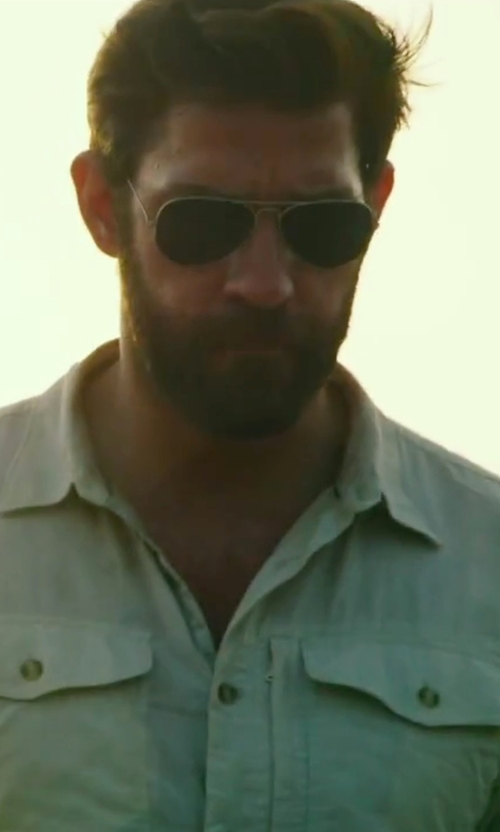 John Krasinski with Randolph Concorde Sunglasses in 13 Hours: The Secret Soldiers of Benghazi