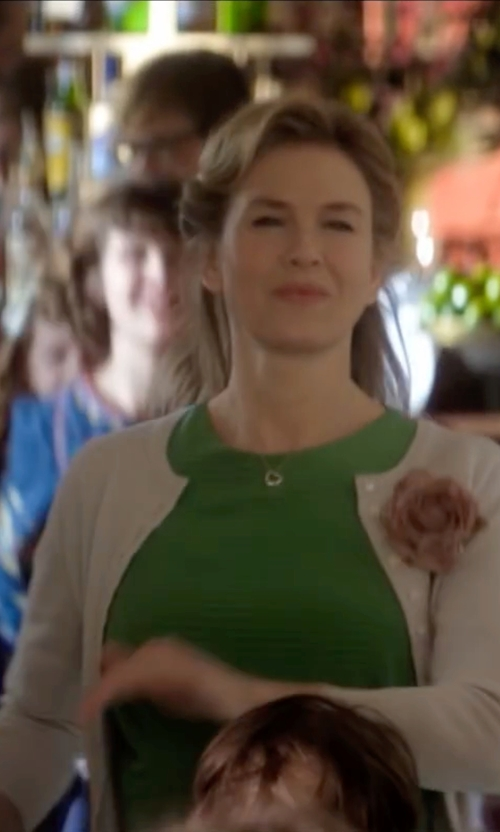 Renée Zellweger with Mia Wish Round Collar Cardigan in Bridget Jones's Baby