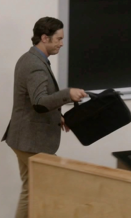 Oliver Hudson with Jack Spade Travel Briefcase in Scream Queens