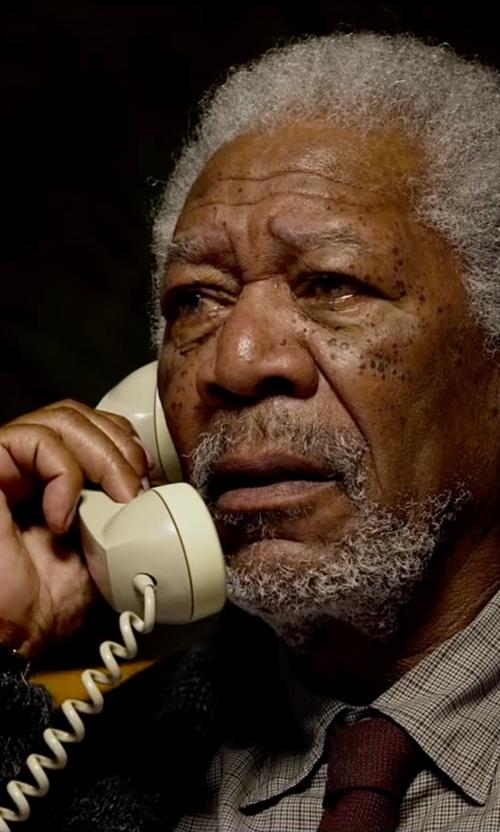 Morgan Freeman with Kiton Check Dress Shirt in Lucy