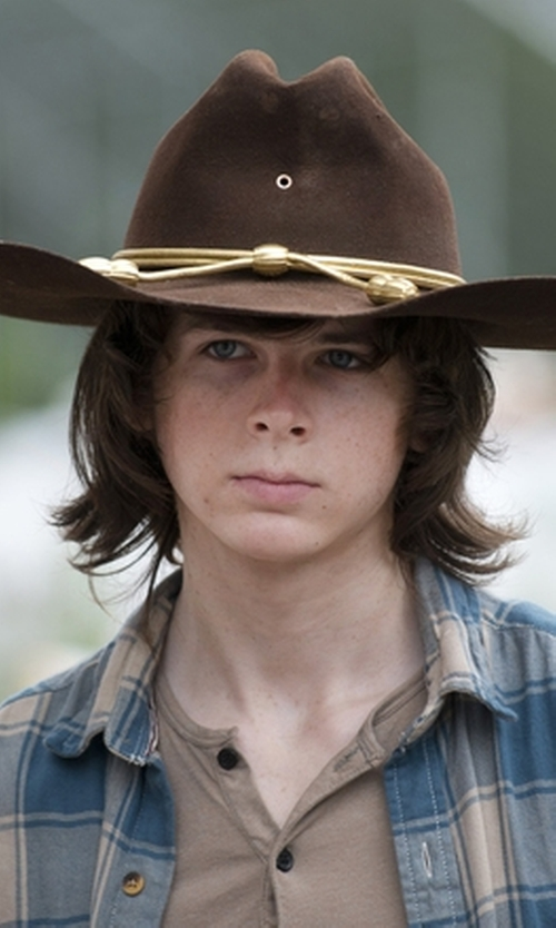 Chandler Riggs with Dickies  Men's Heavyweight Henley Shirt in The Walking Dead