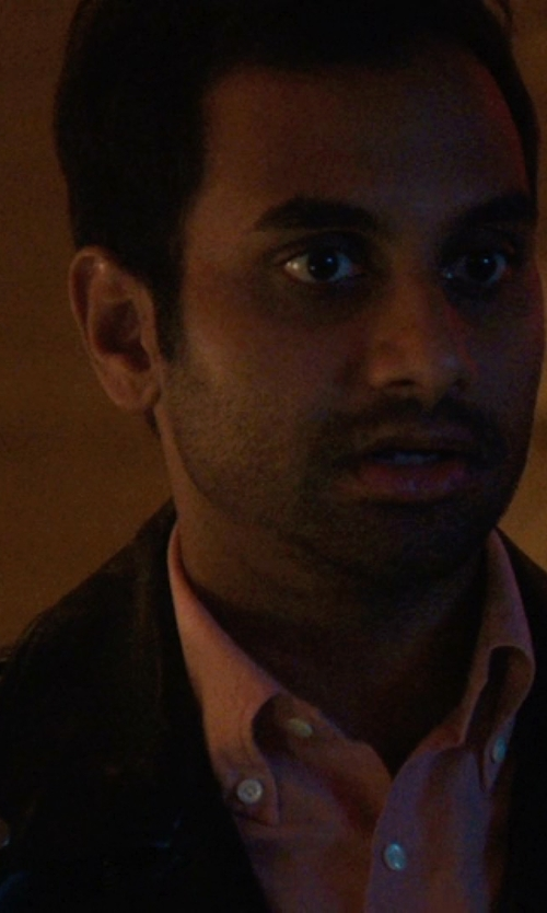 Aziz Ansari with Tripl Stitched Oxford Long Sleeve Shirt in Master of None