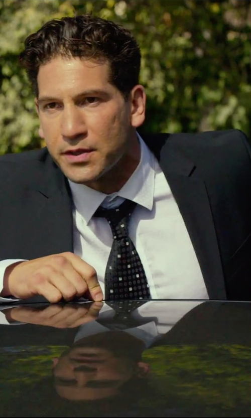 Jon Bernthal with Perry Ellis Comfort Stretch Black Solid Suit in We Are Your Friends