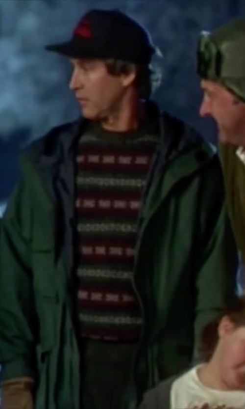 Chevy Chase with Mango Concealed Hood Field Jacket in Christmas Vacation