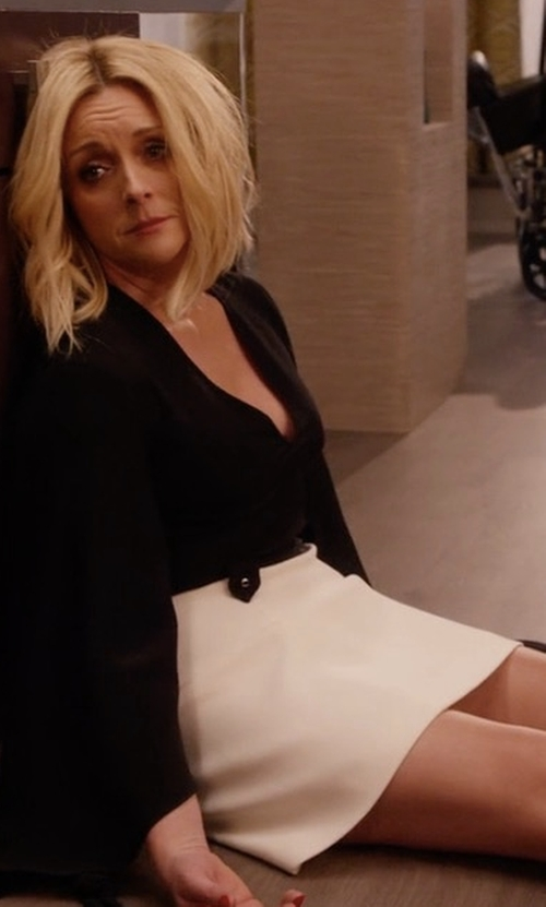 Jane Krakowski with Gianvito Rossi Suede and PVC Cap Toe Pumps in Unbreakable Kimmy Schmidt