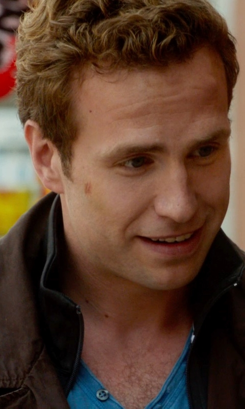 Rafe Spall with Lucky Brand Aviator Cord Jacket in What If