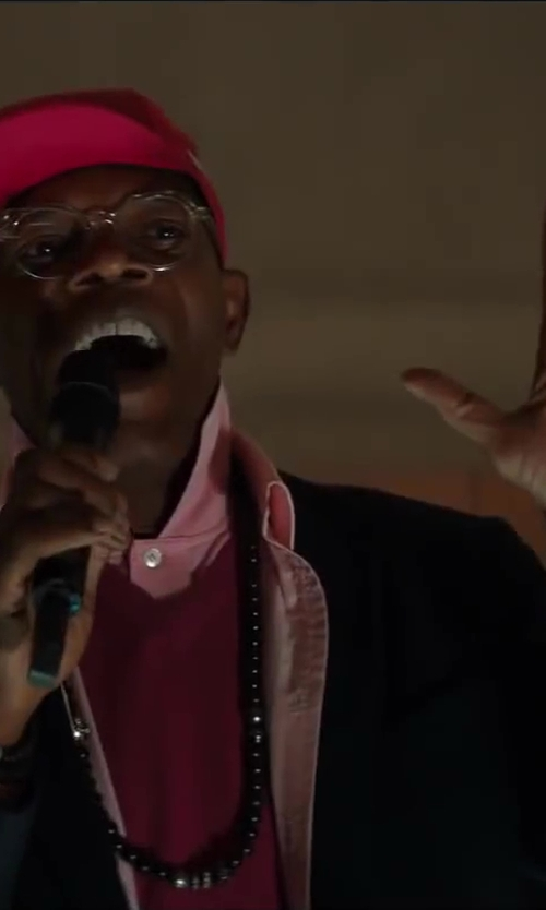 Samuel L. Jackson with David Yurman Spiritual Bead Necklace With Black Onyx in Kingsman: The Secret Service