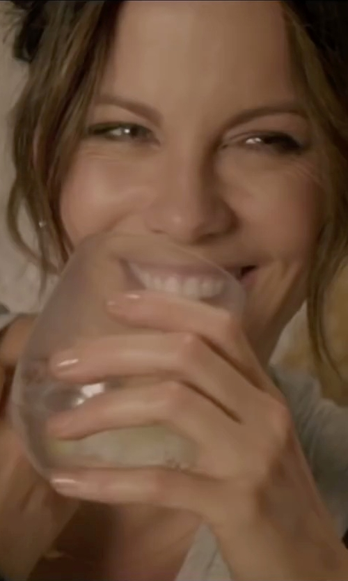 Kate Beckinsale with Strahl Stemless Wine Glass in Absolutely Anything