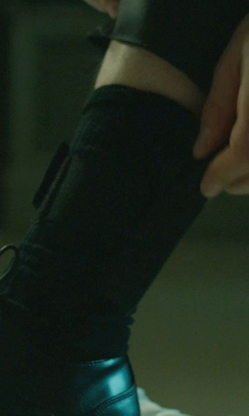 Keanu Reeves with Barneys New York Over-The-Calf Dress Socks in John Wick