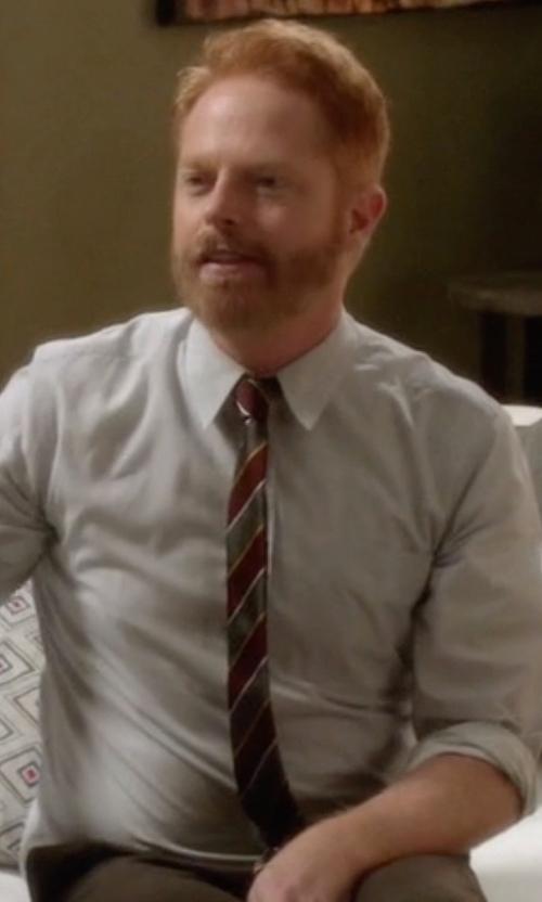 Jesse Tyler Ferguson with Boss Slim Silk Tie in Modern Family