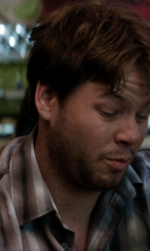 Ike Barinholtz with Carhartt Bellevue Plaid Shirt in Neighbors