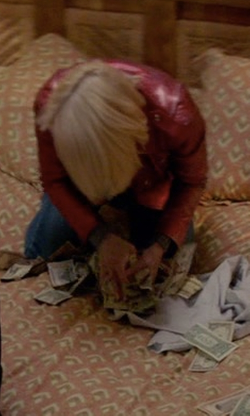 Ellen Barkin with Iro Axelle Leather Jacket in Animal Kingdom