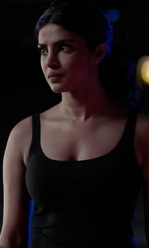 Priyanka Chopra with Monrow Scoop Neck Tank Top in Quantico