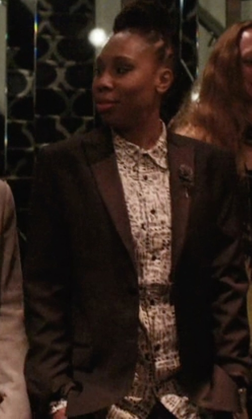 Lena Waithe with Tommy Hilfiger Shawl Collar Tuxedo Jacket in Master of None