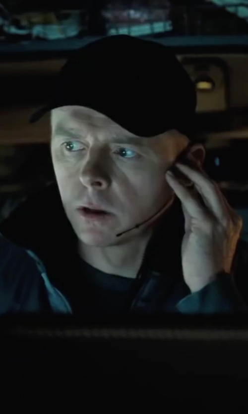 Simon Pegg with Barneys New York Felted Baseball Cap in Mission: Impossible - Ghost Protocol