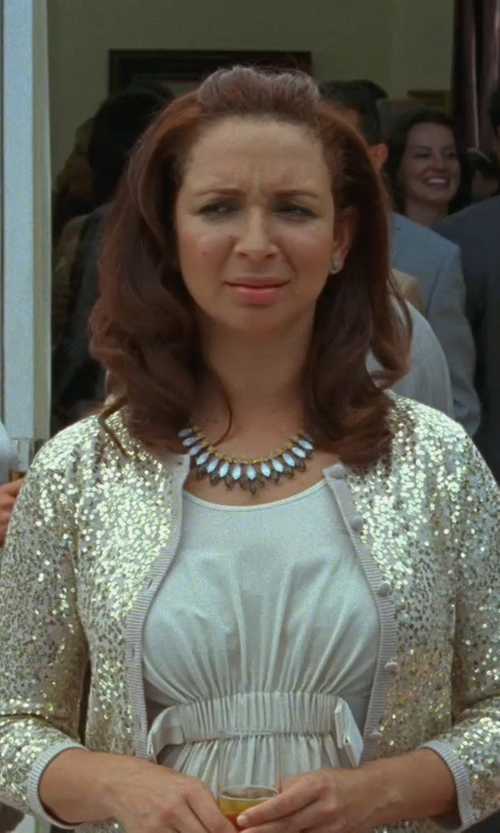 Maya Rudolph with Twin-Set Simona Barbieri Sequin Cardigan in Bridesmaids