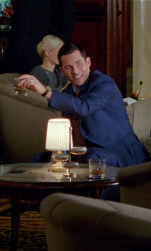 James Marsden with Macy's Men's Sterling Silver Engraved Wedding Band in Unfinished Business