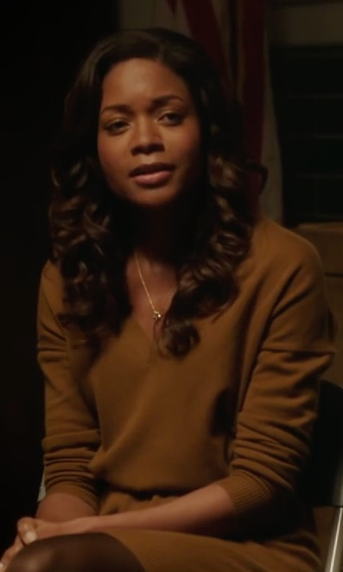 Naomie Harris with Show Me Your Mumu Festibell Sweater Dress in Collateral Beauty